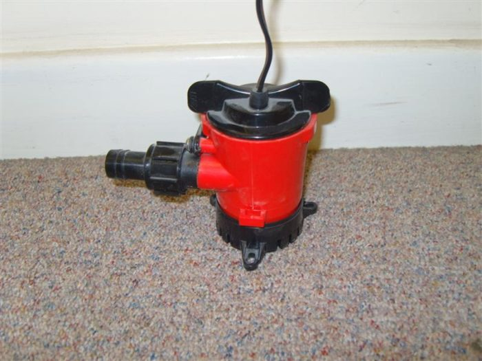 Bilge Pump Manual Electric