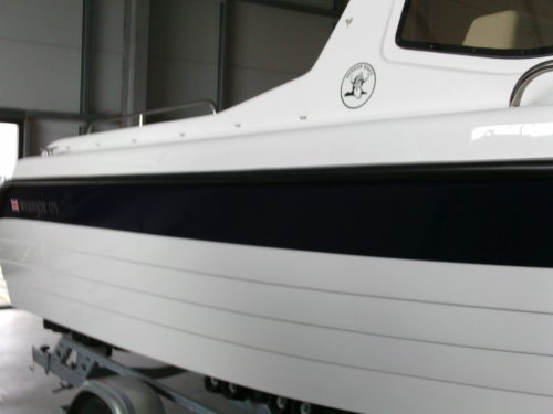Warrior Boats Broad Splice to Hull