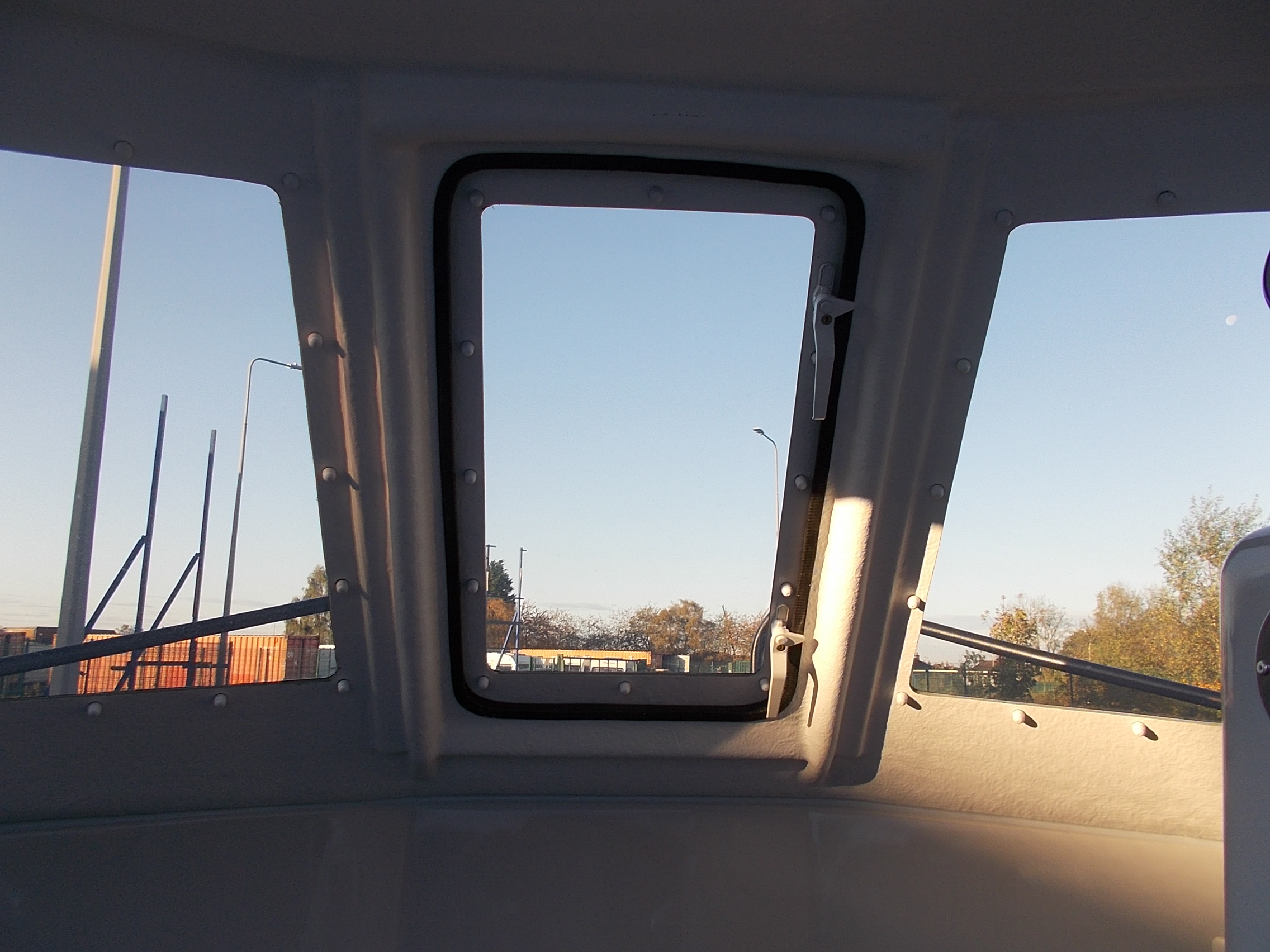 Warrior 175 Windows ,Tinted Polycarbonate, Bonded and Bolted