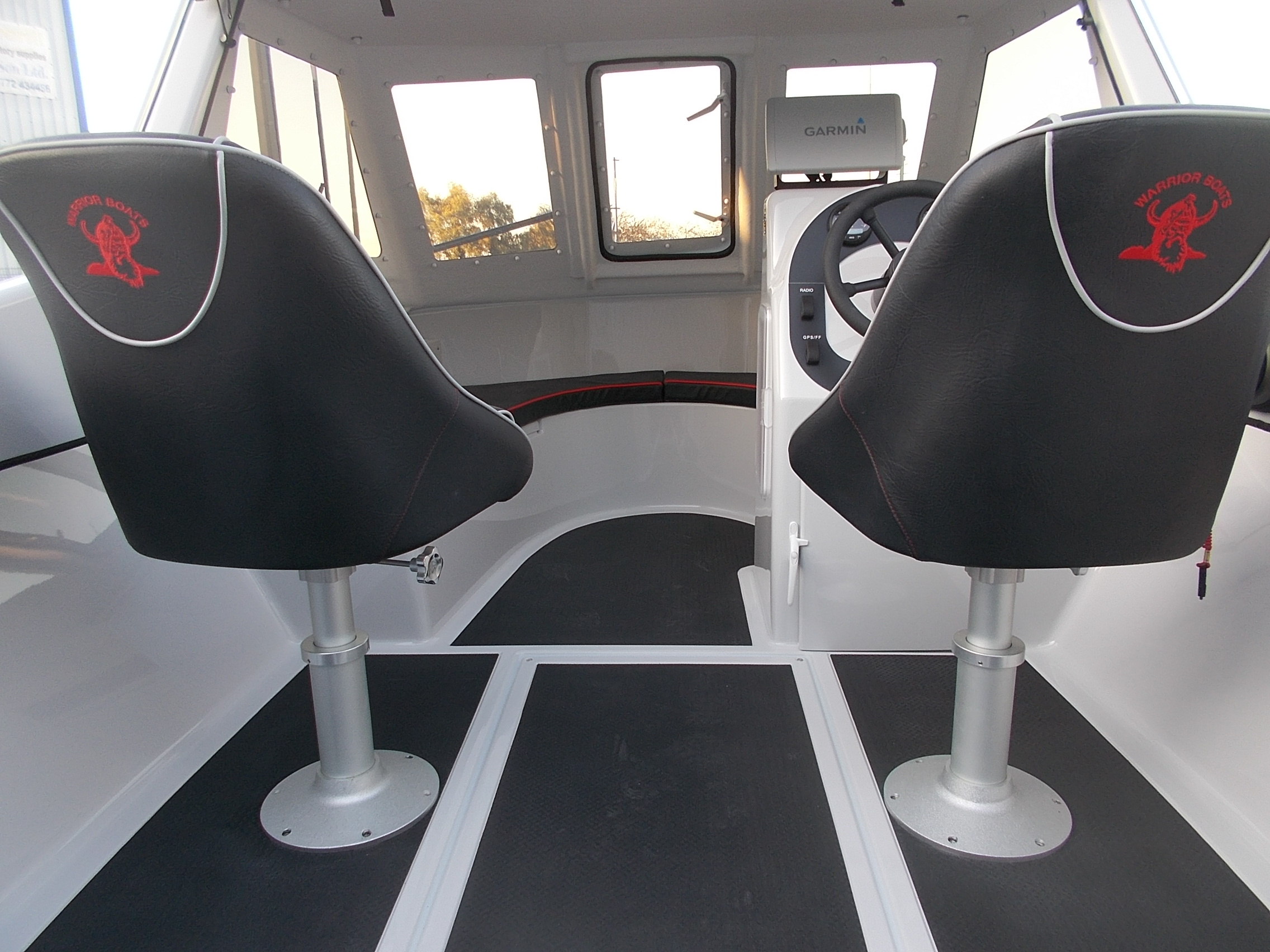 Warrior 175 Bucket Seats on Pedestals