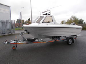STD Boat on Trailer and Standard Colour White