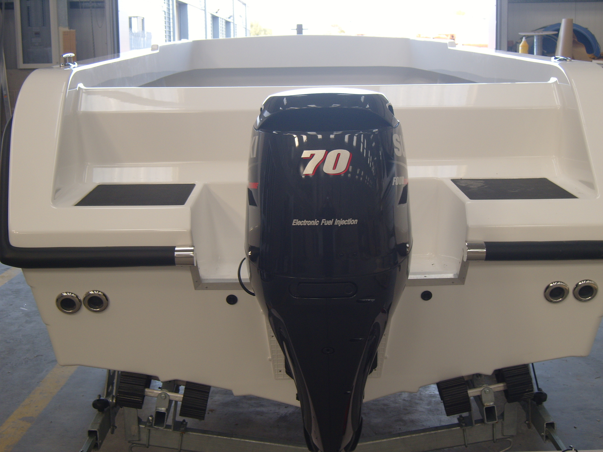 Warrior 6M Rear View with Suzuki Engine